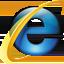 Logo du navigateur Microsoft Internet Explorer 8